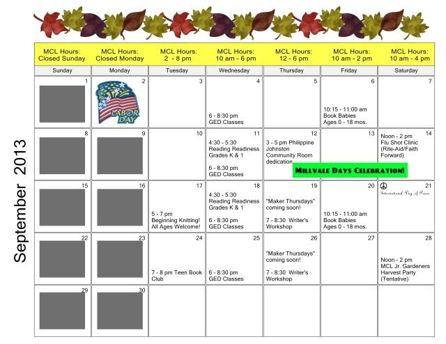 2013-09 Calendar