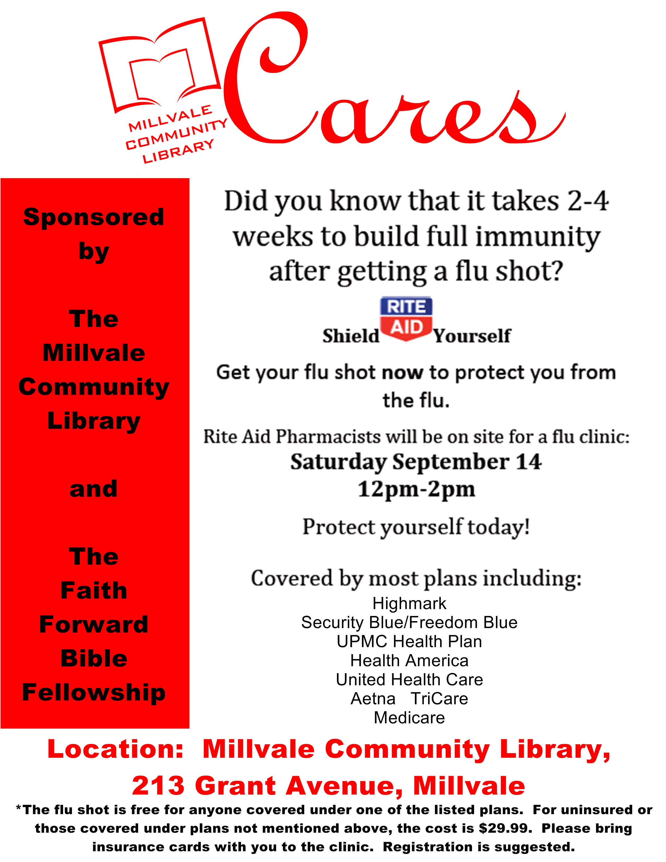 the mcl is the happening place to be in millvale flu clinic flyer