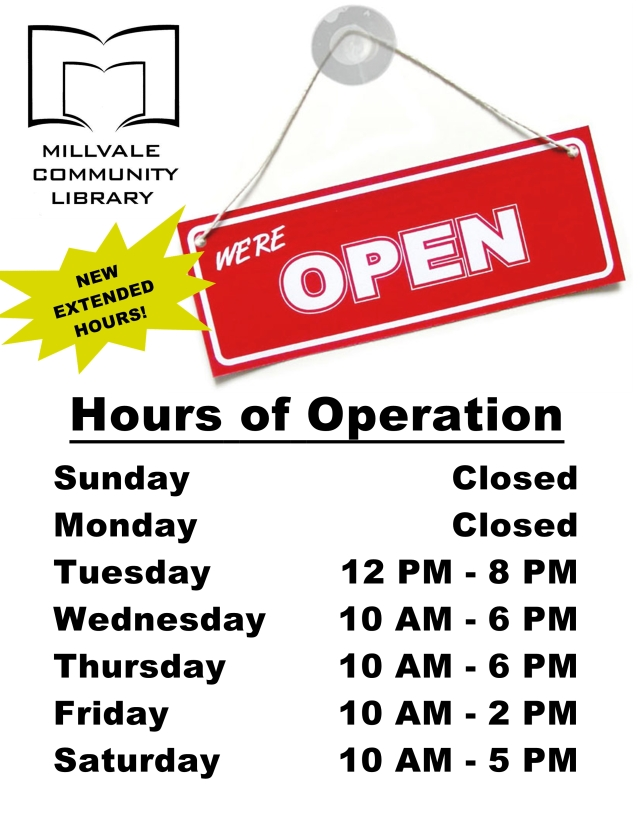 New Hours (Effective 2/11/2014)
