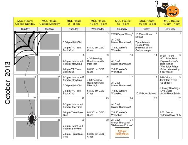 2013-10 Calendar