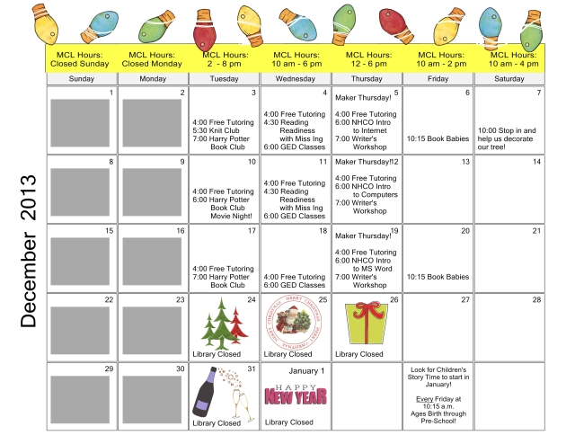 December 2013 Calendar - Page 001