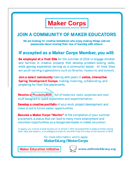 Maker Corps Member Job Information (Page 2)