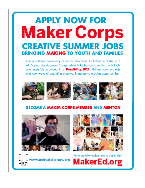 Maker Corps Member Job Information (Page 1)