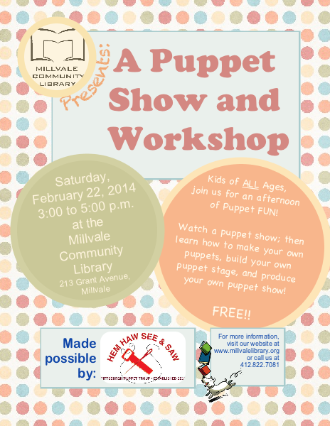 Puppet Show & Workshop Page